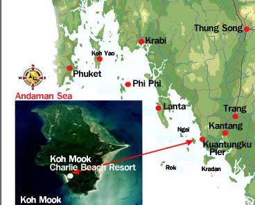 Map Of Koh Mook Charlie Beach Resort